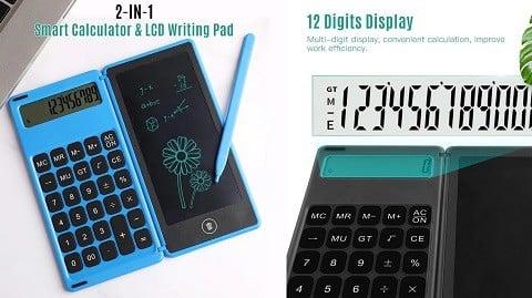 Foldable Calculator & 6 Inch LCD Writing Tablet Digital Drawing Pad