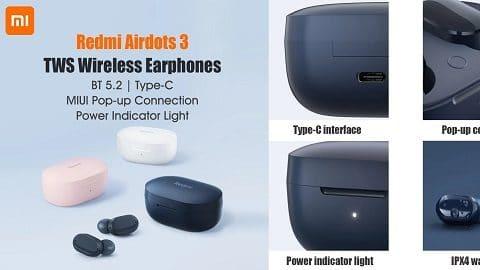 Redmi Airdots 3 TWS BT5.2 Wireless Earphones
