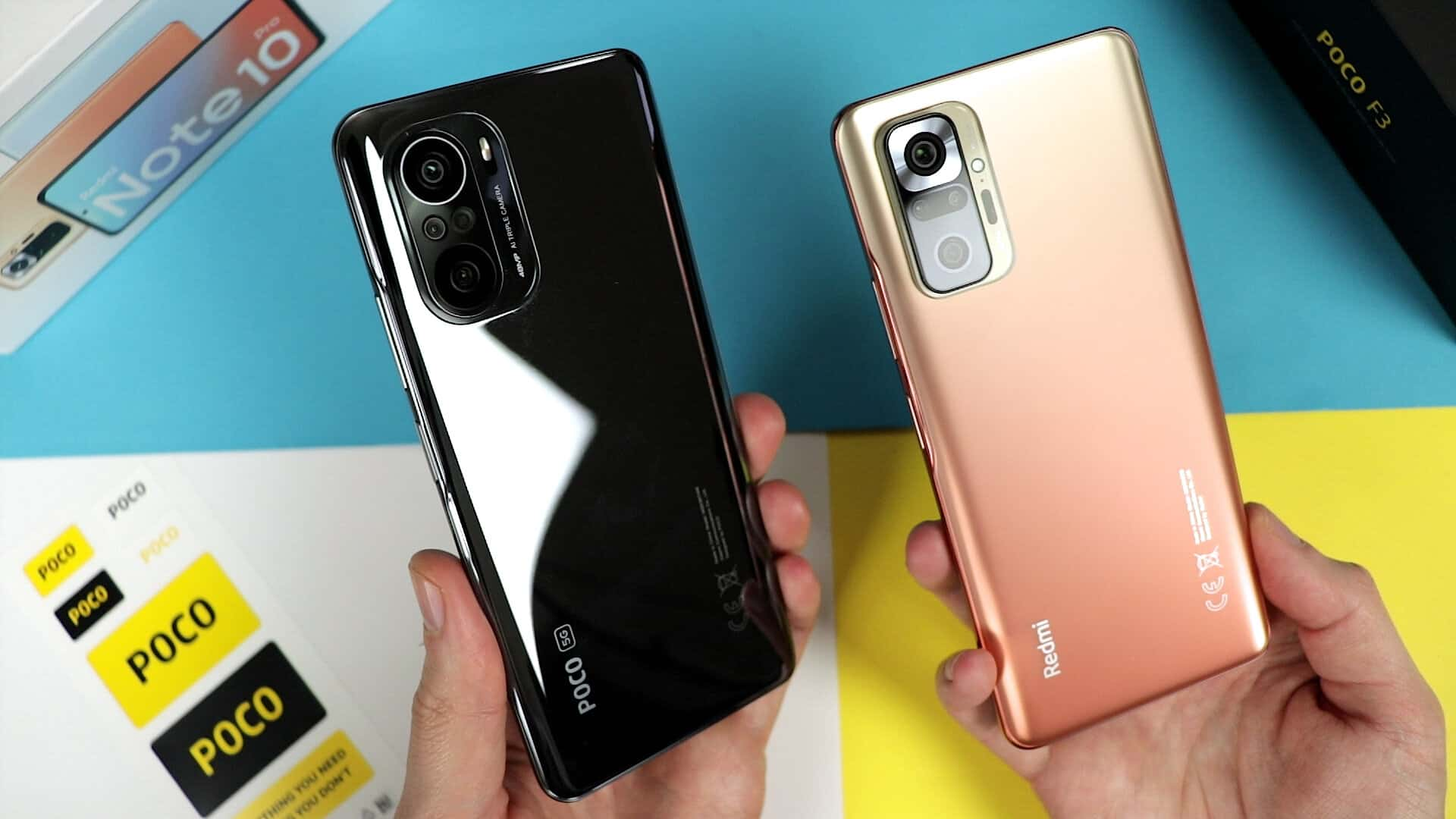 Xiaomi Redmi Note 10 Pro vs Poco F3 review by Unboxing Lab