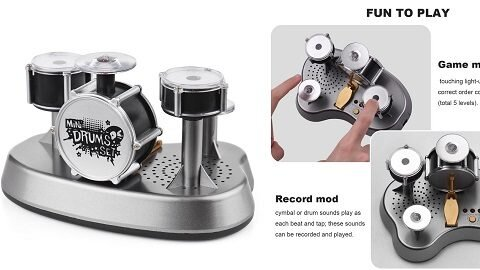 Electronic Mini Finger Drum Finger Touching Drum