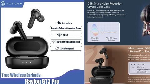 Haylou GT3 Pro TWS+ BT5.0 Wireless Earphones In-Ear Earbuds