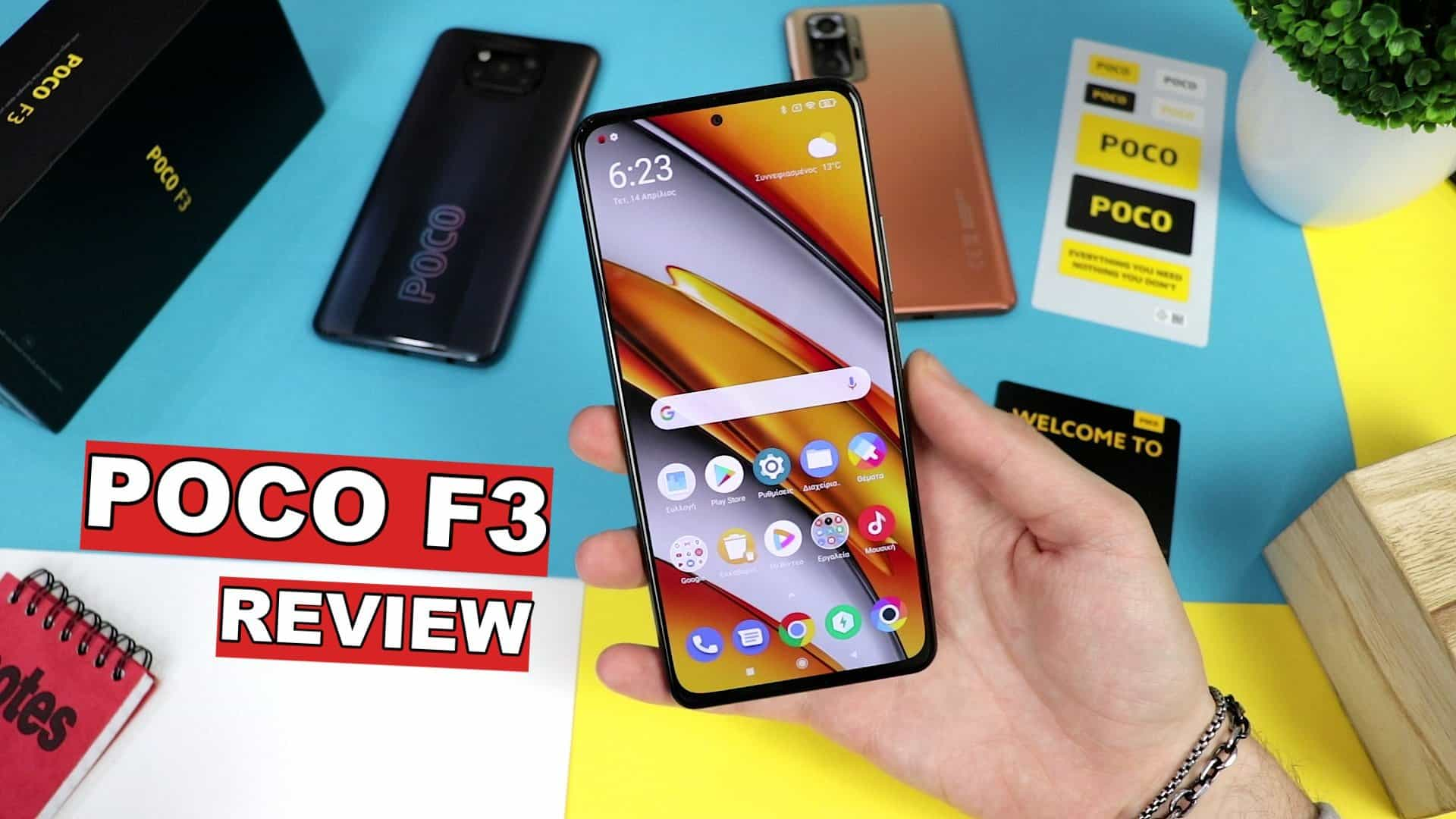 Poco F3 greek review by Unboxing Lab