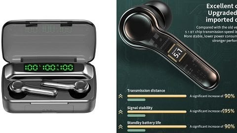 R9S Bluetooth 5.1 TWS Headset Noise Reduction 9D Surround Stereo HiFi Call Earphones