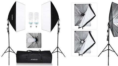 Andoer Photography Studio Cube (Umbrella Softbox Light Lighting Tent Kit)