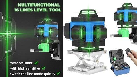 Multifunctional 16 Lines Level Tool Vertical Horizontal Crossline