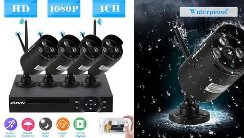 KKmoon 4CH 1080P HD WiFi NVR Kit